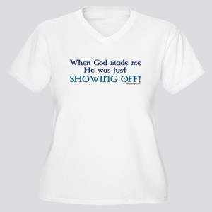 When God Made Me.. Women's Plus Size V-Neck T-Shir