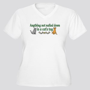 Two cats and funny quote Women's Plus Size V-Neck