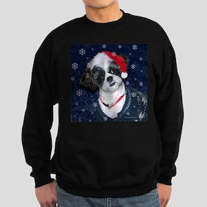 Shih Tzu Santa Sweatshirt (dark)