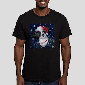 Shih Tzu Santa Men's Fitted T-Shirt (dark)