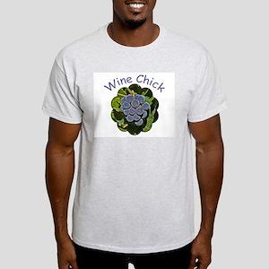 Wine Chick Grapes - Ash Grey T-Shirt