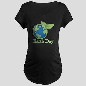Earth Day Maternity Dark T-Shirt