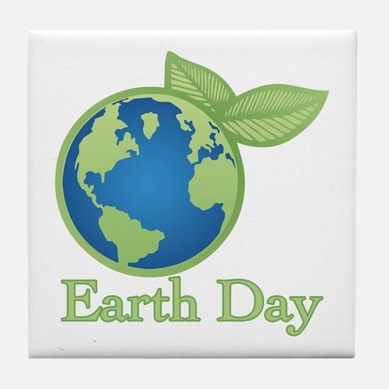 Earth Day Tile Coaster