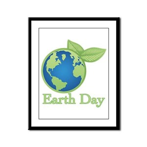 Earth Day Framed Panel Print