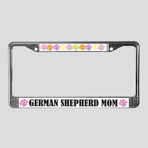 German Shepherd Mom License Frame