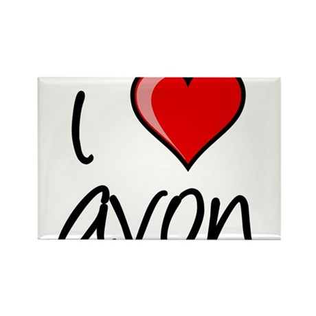 I Love Avon Rectangle Magnet (100 pack)
