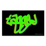 Tagged Rectangle Sticker