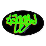 Tagged Oval Sticker