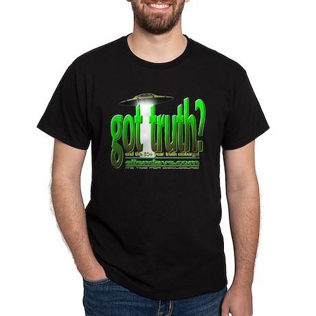 got truth? (green) Black T-Shirt