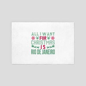All I Want Christmas Rio De Janeiro Ho 4' x 6' Rug