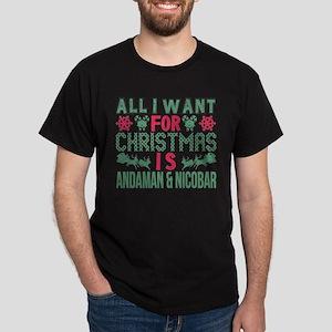 All I Want Christmas Andaman & Nicobar Hol T-Shirt