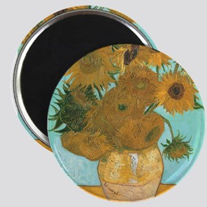"""Van Gogh Vase with Sunflowers 2.25"""" Magnet (10 pac"""