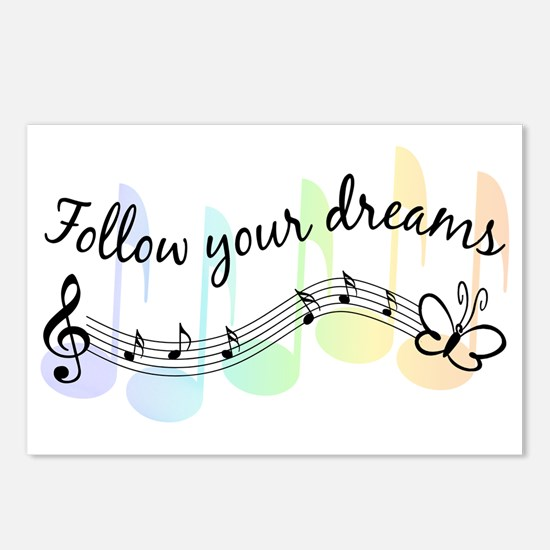 Follow Your Dreams Postcards (Package of 8)