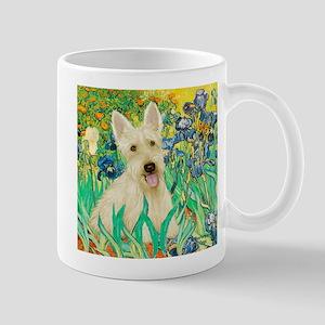 Irises / Scottie (w) Mug