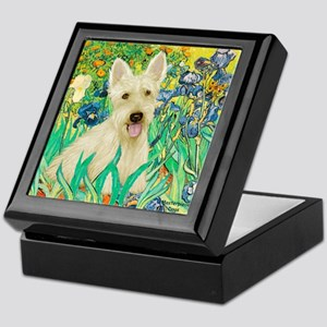 Irises / Scottie (w) Keepsake Box