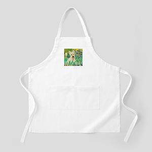 Irises / Scottie (w) Apron