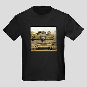 M1A1 Abrams Tank Kids Dark T-Shirt