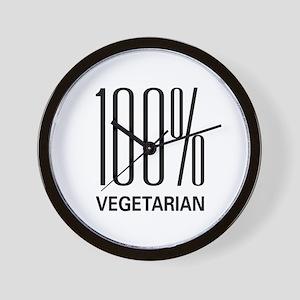 100% Vegetarian Wall Clock