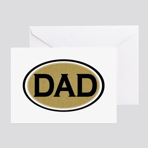 Dad Oval Greeting Card