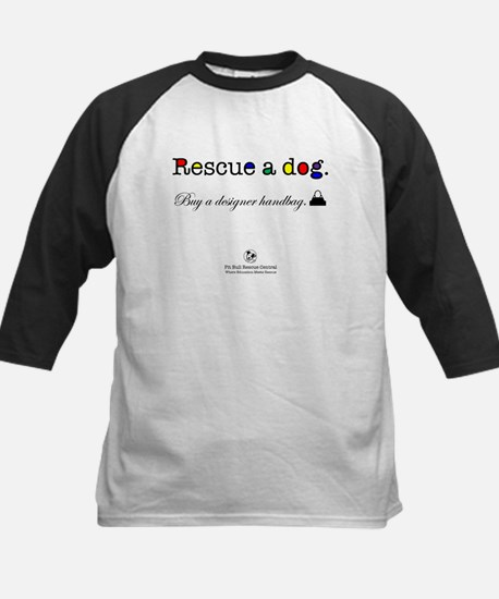 Rescue A Dog Kids Baseball Jersey