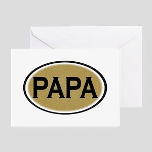 Papa Oval Greeting Card