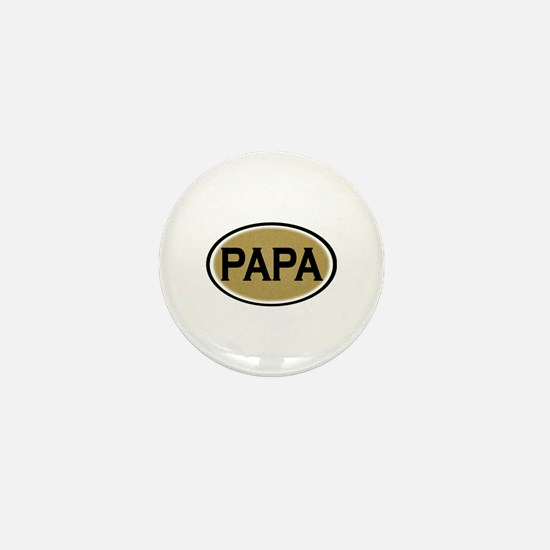 Papa Oval Mini Button