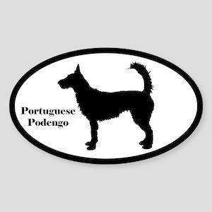 Portuguese Podengo Silhouette Sticker (Wire Hair)
