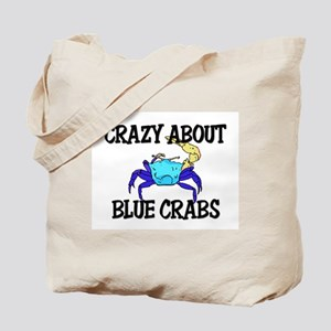 Crazy About Blue Crabs Tote Bag