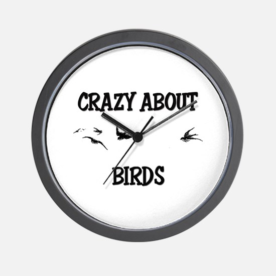 Crazy About Birds Wall Clock