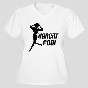 Dancin' Fool Women's Plus Size V-Neck T-Shirt