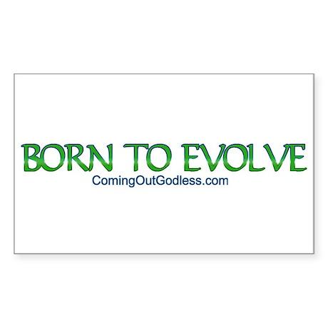 Born to Evolve Rectangle Sticker
