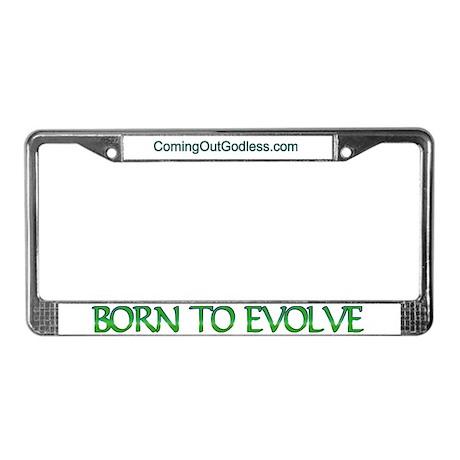 Born to Evolve License Plate Frame