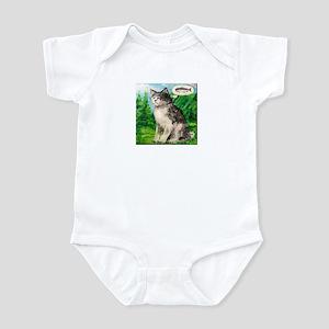 Kitty Tries Zen Fishing Infant Bodysuit