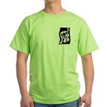 Green Upright Man T/Larger Image on Back