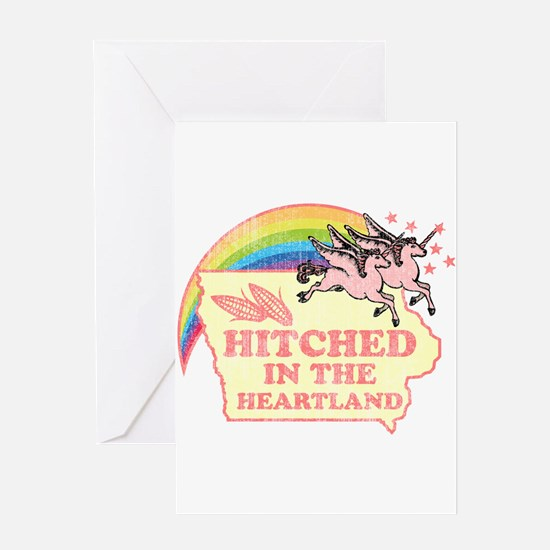 Hitched In The HeartLand-Unic Greeting Card