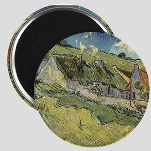 "Van Gogh Thatched Cottages 2.25"" Magnet (10 pack)"