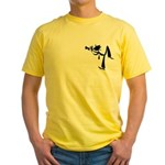 Trumpet Yellow T/Larger Image on Back