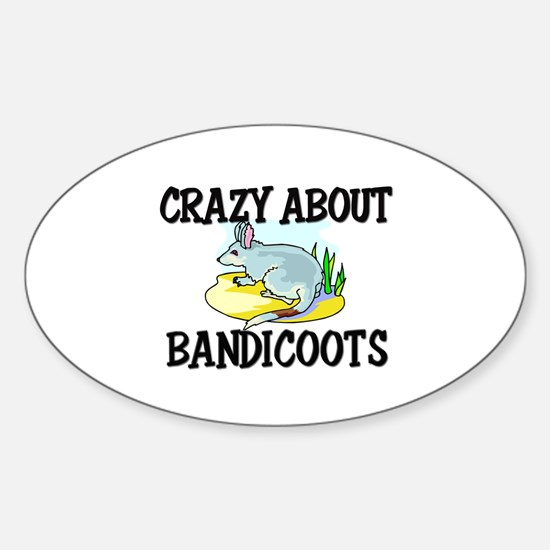 Crazy About Bandicoots Oval Decal