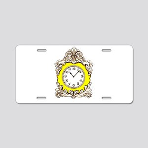 Clock Aluminum License Plate