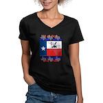 Bye, Y'all! Women's V-Neck Dark T-Shirt