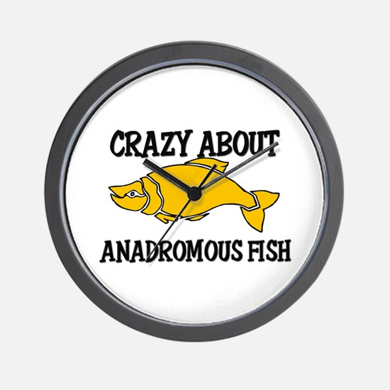 Crazy About Anadromous Fish Wall Clock