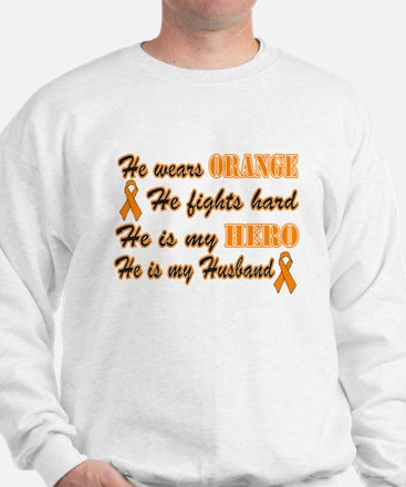He is my Husband Orange Hero Sweatshirt