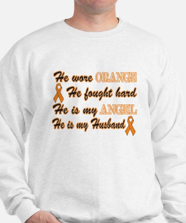 He is my Husband Orange Angel Sweatshirt