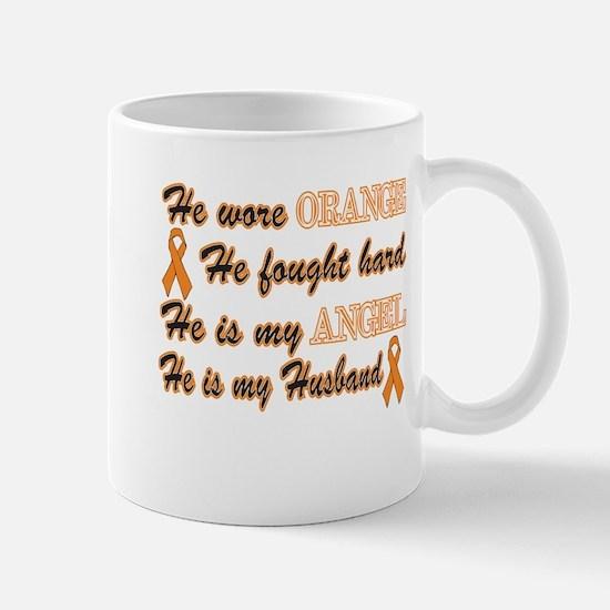 He is my Husband Orange Angel Mug