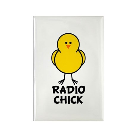 Radio Chick Rectangle Magnet (10 pack)