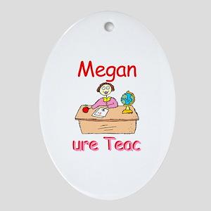 Megan - Future Teacher Oval Ornament