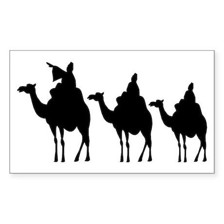 3 Wise Men Rectangle Sticker