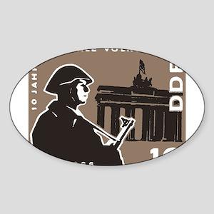 Nationale Volksarmee Oval Sticker