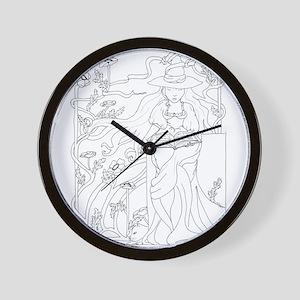 Spellbook Wall Clock