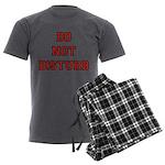 Do Not Disturb Men's Charcoal Pajamas